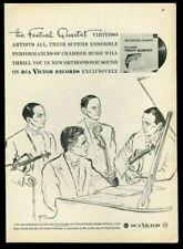1958 William Primrose The Festival Quartet portrait RCA Victor records print ad