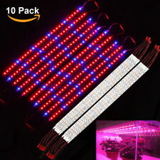 10x 0.5M 5050 LED Plant Grow Light strip Lamp Blue Red For Hydroponic Greenhouse