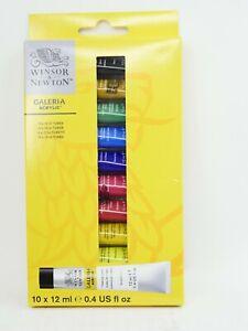 WINSOR & NEWTON GALERIA Acrylic 12 x 12ml/.4flOz Tubes Made in France  2190605