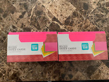 Pen Amp Gear Ruled Index Cards Neon Color 3x 5 Heavyweight 200 Ct 2 Packs