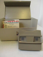 View-Master with Box and Large Lot (31) of Vintage Travel and Children's Reels