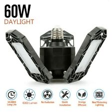 60W 6000LM Deformable LED Garage Light Super Bright Shop Ceiling Lights Bulbs US