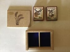 NEW American Expedition Whitetail & Mule Deer card gift set in wheat straw box