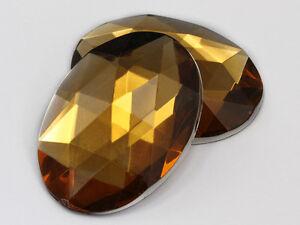 Large Oval Gems 40x30mm Rhinestones for Jewelry Making  - 4PCS