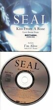 SEAL RARE FRENCH CDS IN CARD PS KISS FROM A ROSE
