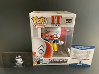 Tim Curry Autographed IT Pennywise Funko POP #55 Signed Rocky Horror Beckett COA