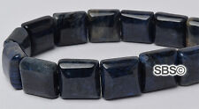 Dumorite 10x10mm 2-Hole Square Stone Beads (approx. 16 inch strand)