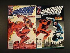 Marvel Comics - Daredevil #249 vs Wolverine and  #257 vs Punisher - VF/NM 1987