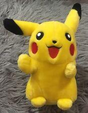 "Pokemon Advanced Pikachu 2004 Hasbro Nintendo 10"" Plush Stuffed Toy Gift Smiling"