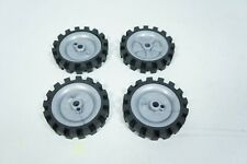 """Knex Wheels Lot 4 Tires 2.5"""" Gray Replacement Parts Piece"""
