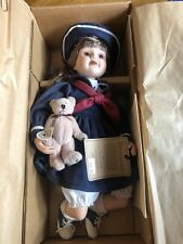 BOYDS COLLECTION 4805 Yesterdays Child BETSIE Porcelain Doll bear TROY sail boat
