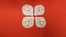 Blanc, guipure dentelle, applique, trimmings,wedding-heart motifs x 4 (3 cm x cm)