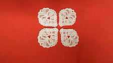 White, Guipure Lace,Applique, Trimmings,Wedding-Heart Motifs x 4 (3cm x 4cm)
