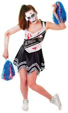 Ladies Dead Zombie American Cheerleader Halloween Fancy Dress Costume Outfit