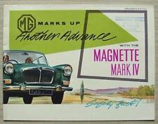 MG MAGNETTE MARK IV Car Sales Brochure July 1963 #H&E 62197
