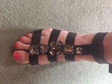 Moda In Pelle Leather Jewel Gladiator Flatform Sandals. 38 (5)❤️