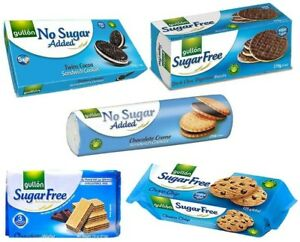 Gullon Sugar Free Biscuits - Chocolate Selecion -  5 Packs - LONG EXPIRY DATES