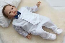 Baby Boy Suit Gentiluomo vestito bianco Smart Festa Battesimo Estate