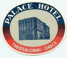 THESSALONIKI GREECE PALACE HOTEL VINTAGE LUGGAGE LABEL