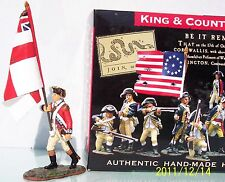 KING & COUNTRY BRITISH REVOLUTIONARY BR036 MARCHING OFFICER REGIMENTAL FLAG MIB