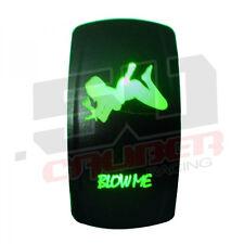 Rocker Switch 12V Hot Girl Blow Me Marine Ski Wakeboard Bass Pontoon Boat Green