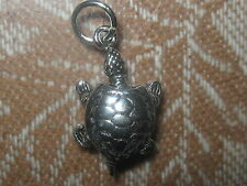 925 STERLING SILVER MOVABLE MOVING TURTLE TORTOISE PENDANT CHARM NECKLACE