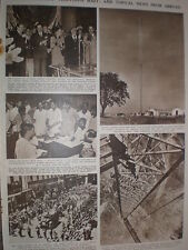 Photo article UK largest tv mast under way at Sutton Coldfield 1949