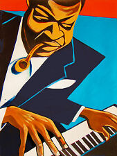 OSCAR PETERSON PRINT poster pipe cigar jazz piano trio we get requests cd zardis