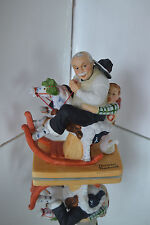 Norman Rockwell Danbury Mint11980 Grandpa At The Reins Bisque Porcelain
