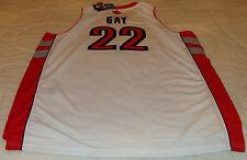 Adidas Toronto Raptors гей, Руди белый 30 SWINGMAN L НБА баскетбол Джерси новый с Ярлыками