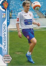N°450 D'ALESSANDRO NUEVO FICHAJE REAL ZARAGOZA CARD PANINI MEGA CRACKS LIGA 2007