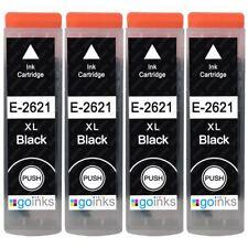 4 Black Ink Cartridges for Epson Expression Premium XP-600, XP-620, XP-720