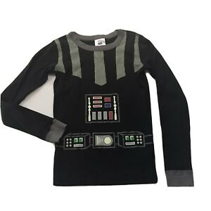 hanna andersson 150 Star Wars Pajama Top Darth Vader Organic Glow in the Dark 11