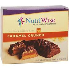 NUTRIWISE - Protein Diet Bars | Caramel Crunch | 7/Box, Gluten Free, Low Fat