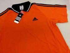 Mens Adidas Polo Shirt New in Packs UK Large Orange & Black Z57315