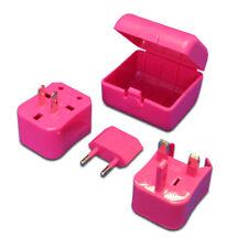 Universal Pink Travel Power Outlet Socket Adapter Converter w/ US UK EU AU plug