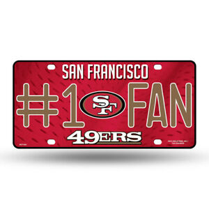 San Francisco 49ers #1 Fan Metal Sign License Plate Tag Man Cave NFL