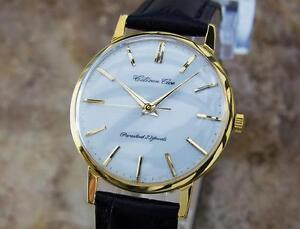 Citizen Ace Mens Made in Japan 1960s 36MM Manual Gold Plated Dress Watch Y93