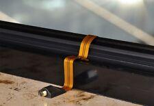 Fensterdurchführung ultraflach Kupfer mit vergoldeten F-Buchsen +  2 F-Stecker