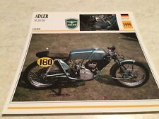 Carte moto Adler M 250 RS 1955 collection Atlas Motorcycle Allemagne