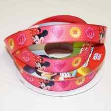 1 Metro De Disney Minnie Mouse Clubhouse Spotty Botones De 15mm De Raso Artesanales Cinta