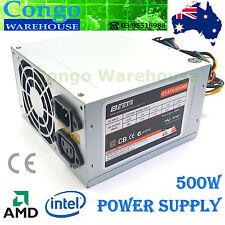 Besta 500W ATX Power Supply (4+4pins) P4 AMD 24&20pin, 3x SATA 3x Molex 1x FDD
