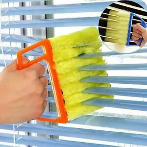 Orange Venetian Blind Cleaner With Handle Washable Micro Fibre Duster Cleaner