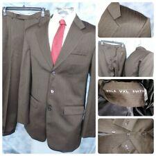 Vtg Birla Vxl (Digjam) Suiting 40L Men 2Pc Suit Brown Stripe 32X32.5 3B Special