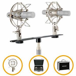 Kleinmembran Mikrofon Stereo Aufnahme Zubehör Koffer Stereoschiene Spinne Set
