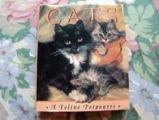 Vintage Hb 1992 Cats Miniature Book, A Feline Potpourri, Illustrated