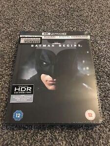 Batman Begins 4K Ultra HD - Limited Edition Blu-Ray Film Book