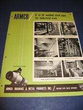 1950's ARMCO Drainage & Metal Products Inc Catalog Asbestos History