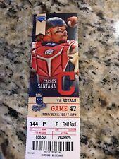 2013 Indians vs Royals Full Ticket Stub. Kluber Win. 7/12/13