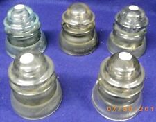 Vintage Insulator Lot  5 WHITALL TATUM Insulators GLASS OLD INSULATORS